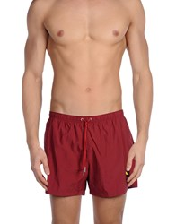 Fendi Swimwear Swimming Trunks Men Maroon
