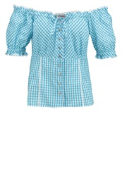 Anna Field Blouse Tourquise Turquoise