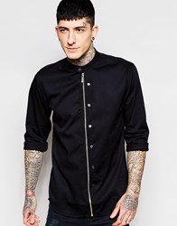 Lindbergh Shirt With Zip Front Black