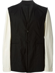 Ann Demeulemeester Contrasting Sleeve Jacket