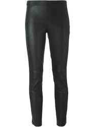 Diesel Black Gold Leather Leggings