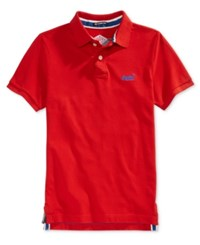 Superdry Men's Classic Pique Polo Red