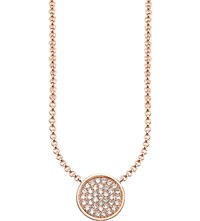Thomas Sabo Glam And Soul Rose Gold Plated And Zirconia White Pave Necklace