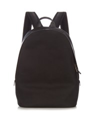 Paul Smith Leather Trimmed Canvas Backpack Black