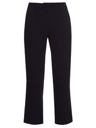 Goat Venice Straight Leg Cropped Trousers Navy