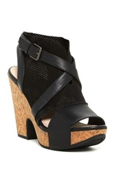 Naya Maple Platform Sandal Black