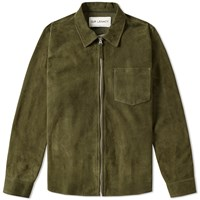 Our Legacy Suede Zip Shirt Green
