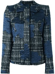 Giorgio Armani Tweed Jacket Black