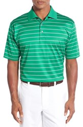 Bobby Jones Men's 'Hanson Stripe' Mercerized Cotton Polo Kelly Green
