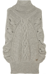 Gucci Alpaca And Wool Blend Cable Knit Poncho Net A Porter.Com