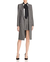 Alice Olivia Kylie Shawl Collar Long Jacket Charcoal