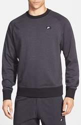 Nike 'Aw77' French Terry Crewneck Sweater Anthracite Black Heather