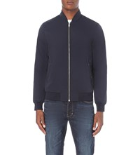 Reiss Eiffel Shell Bomber Jacket Navy