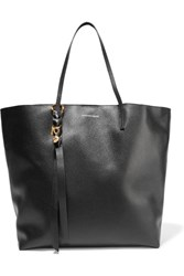 Alexander Mcqueen Skull Textured Leather Tote Black