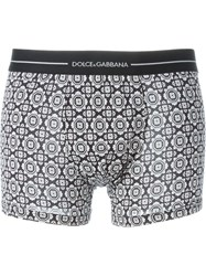 Dolce And Gabbana Underwear Printed Boxer Shorts Black
