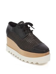 Stella Mccartney Elyse Straw Platform Derby Shoes Bronze