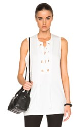 3.1 Phillip Lim Bohemian Grommet Top In White