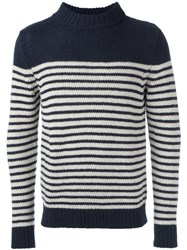 A.P.C. Striped Jumper Blue