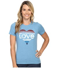 Life Is Good Love Heart Cool Tee Cloud Blue Women's T Shirt