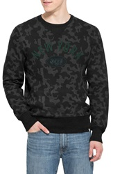 47 Brand 'New York Jets Stealth' Camo Crewneck Sweatshirt Black