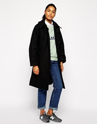 Wood Wood Oversized Natalie Coat With Self Tie Black