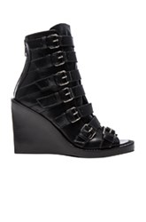 Ann Demeulemeester Leather Buckle Sandals In Black