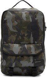 Diesel Green Camo F Close Backpack