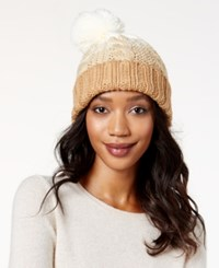 Rampage Colorblock Beanie Only At Macy's Camel Ivory