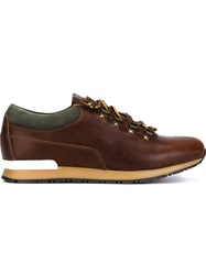 Canali Lace Up Sneakers Brown