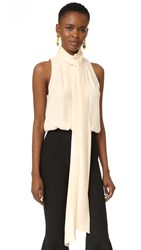Juan Carlos Obando Sleeveless House Blouse Cream
