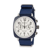 Briston Classic Chronograph Date White Dial And Navy Strap Navy Blue