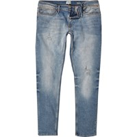River Island Mens Light Wash Sid Skinny Stretch Jeans