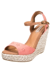 Pepe Jeans Walker Embrodery High Heeled Sandals Easyjet Coral