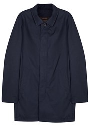 Oscar Jacobson Stanley Dark Blue Cotton Jacket Navy
