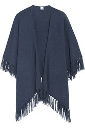 Iris And Ink Tasseled Cashmere Wrap Blue