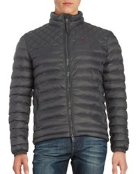 Strellson Quilted Puffer Jacket Dark Grey