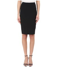 Prabal Gurung Stretch Wool Knee Length Skirt Black Women's Skirt