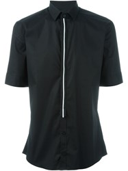 Les Hommes Short Sleeve Shirt Black