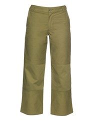 Mih Jeans Hakone High Rise Straight Leg Cropped Trousers