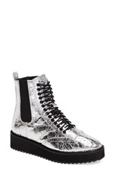Shellys Women's London Lily Lace Up Chelsea Platform Wedge Boot