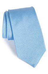 Gitman Brothers Vintage Men's Solid Silk Tie Medium Blue