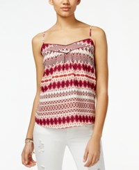 Jessica Simpson Shelby Ikat Print Tank Top Brown