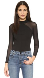 Kendall Kylie Long Sleeve Bodysuit Black