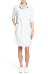 Women's Caslon Popover Shirtdress Super Bleach