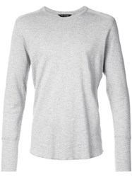 Wings Horns Longsleeved T Shirt Grey