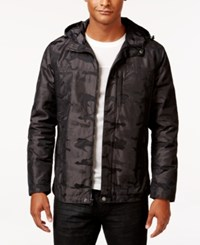 Inc International Concepts Men's Hooded Camo Jacket Only At Macy's Charcoal
