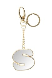 Topshop S' Mirror Initial Keyring Clear