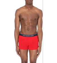 Ralph Lauren Pack Of 2 Stretch Cotton Trunks Red Nvy App