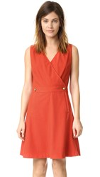 Tory Burch Val Dress Red Canyon