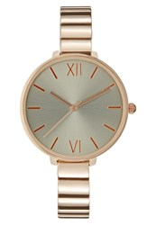 Kiomi Watch Rose Goldcoloured Grey